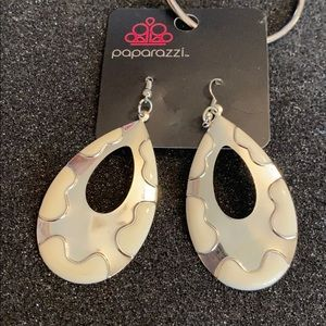 Paparazzi jewelry and accessories white earrings